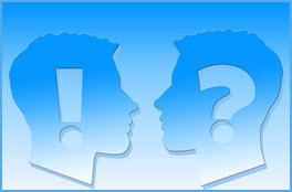 Beratung Frage Antwort 2 Köpfe