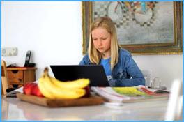 Homeschooling Mädchen Notebook