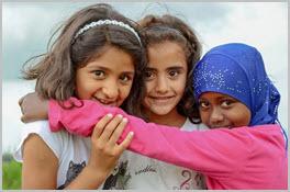 Kinder Einwanderer Migranten Mädchen